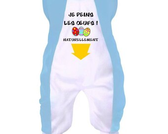 Easter baby onesie: I paint the eggs
