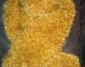sequin adult gold yellow wool scarf