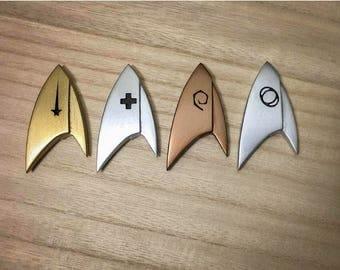 Star Trek Discovery Badge Com Badge Delta Captain Emblem Cosplay Custom Commander Discovery Halloween