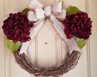 Wreath, Fall wreath, Holiday wreath, Everyday wreath, Door wreath, Door Decor