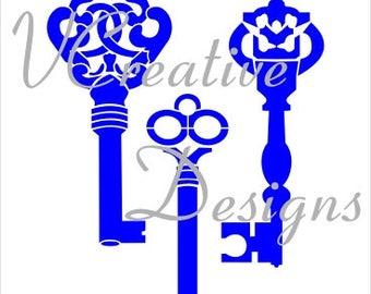 577 Keys stencil
