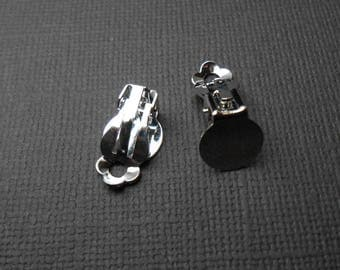 Set of 2 clips for earrings in silver