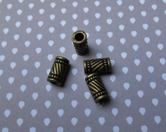Set of 4 spacers bronze tube 11 X 6 millimeters