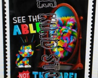 See the able not the lable children's iron-on transfer