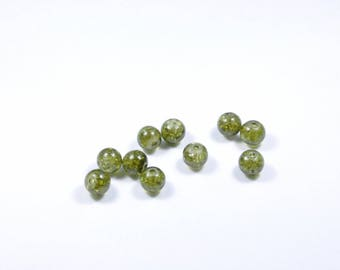 PE62 - Set of 10 Crackle glass beads