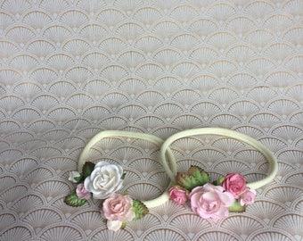 Newborn baby flower headband