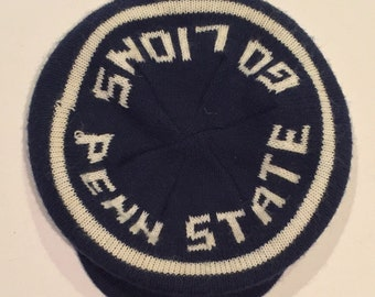 Vintage Circa 1980 Penn State University Football Winter Beanie Syle cap / hat - Fantastic Vintage PSU Nittany Lions item