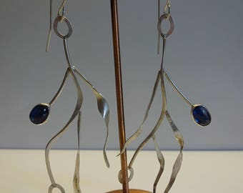 Kyanite leaf drop earrings