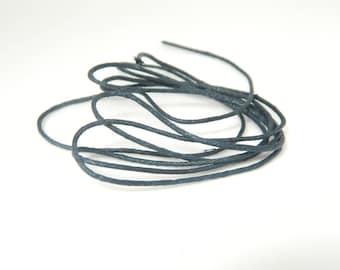 Color black (l452) 90cm waxed cotton thread