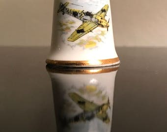 Collectible ceramic war plane messerschmitt thimble