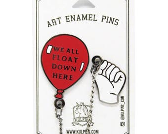 It Movie Pennywise We all Float Clown Hard Enamel Pin