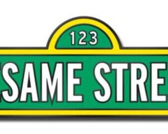 Sesame Street Logo Retro Hard Enamel Pin Le
