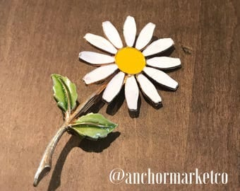 Beautiful Vintage Sunflower Pin - Sunflower Brooch - Flower Pin - Flower Brooches