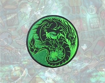 Green Dragon Patch Loong Patch Iron on Patch Sew On Patches back patch