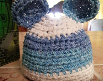 Handmade Crochet Newborn Bear Hat
