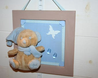 frame Teddy tututte taupe and blue birth gift?