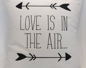 "Pillow cover ""Love is in the air"""