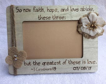 Custom Wood Burned Picture Frame