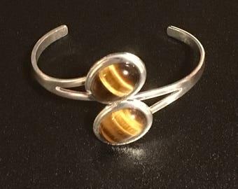 Golden Tiger Eye Silver Bracelet