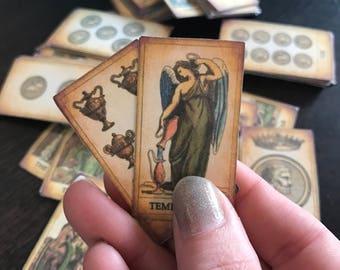 Miniature tarot deck