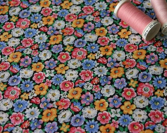 Patchwork fabric floral multicolored vintage
