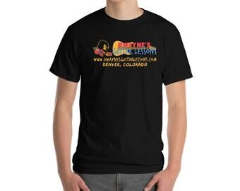 Black All Cotton Short-Sleeve Custom DGL T-Shirt