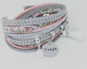 Liberty with personalized engraving by Palilo multi strand bracelet