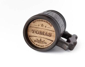 Wooden Beer Mug Personalized Groomsman Gift Groomsman Mug Gift For Man Wooden Beer Tankard Personalized Wooden Mug Personalized Groom Mug