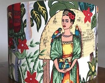 Frida Kahlo lampshade Frida Lampshade lamp shade 40cm drum lampshade ceiling table gift for artist Frida Kahlo gift Frida's Garden Feminist