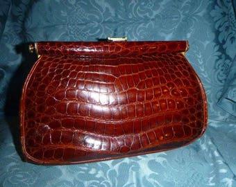 Beautiful vintage crocodile bag
