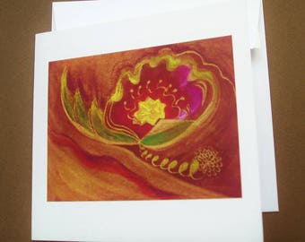 """Greeting card """"Flower mystery"""" booklet"""