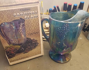 Indiana Carnival Glass Pitcher (New in box)