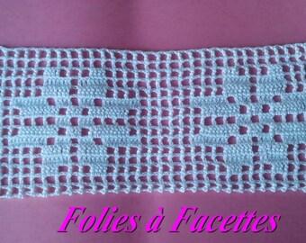White cotton lace crochet star