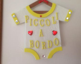 Funny onesie to hang on to your car or wherever you want you all to see