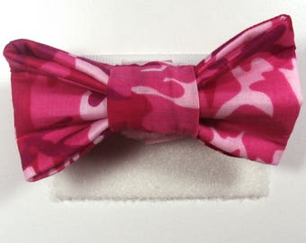 Pink Camo Patterned Bow Tie