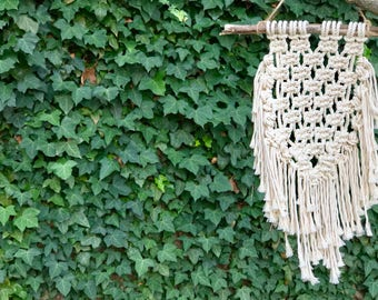 Macrame on Driftwood Wall Hanging/ Wall Decor