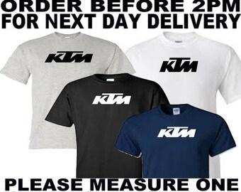 ktm racing motorbike t shirt all sizes upto 5xl free first class postage uk