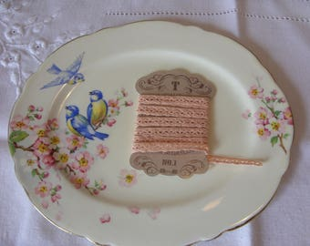 Peach Crochet Lace Ribbon