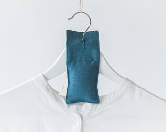 Lavender Hanger Sachet - Premium quality - Hand made - Linen - Electric color - Ready to ship