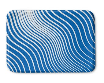 Blue Waves Bath Mat