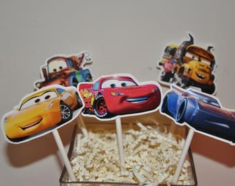 Cars 2 Cupcake Toppers set of 12