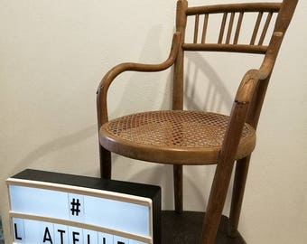 Small 50s rattan chair