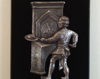 The Baker - Bas-relief pewter
