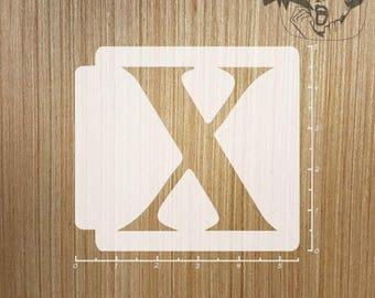 Roman Numeral - X 783-261 Stencil