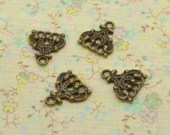 4 x brass chandellier earrings connector