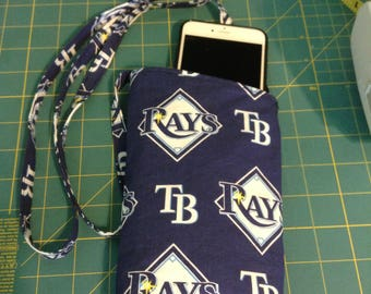Tampa Bay Rays cell phone bag