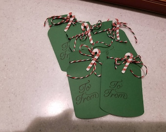 Green Canning Jars Christmas Tags