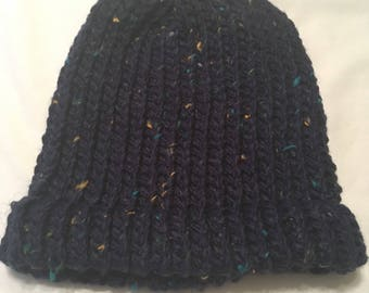 Navy blue adult beanie