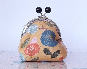 Purse with snap closure, cloth purse, Clac Click Coin Purse, Tinted wallet, purse with automatic closure
