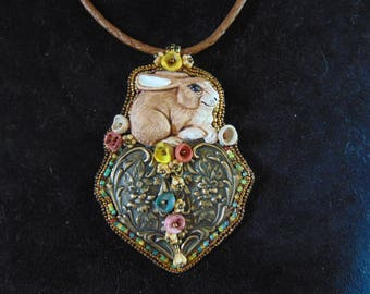 Bunny Love Beaded Necklace